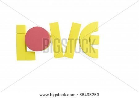 Love Word Colorful English Passion Concept