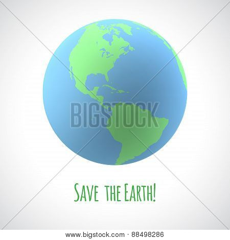 Save the Earth poster.