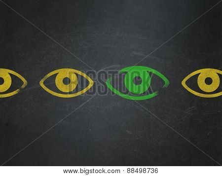 Safety concept: eye icon on School Board background