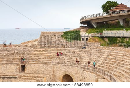 Historical Amphitheater Of Tarragona, Spain