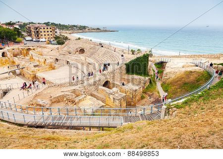 The Historical Amphitheater Of Tarragona, Spain