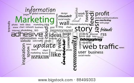 Word cloud. Marketing concept