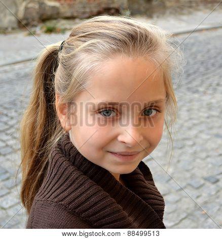 Portrait of smiling little girl