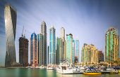 pic of skyscrapers  - The beauty panorama of skyscrapers in Dubai Marina - JPG