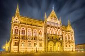 picture of hungarian  - View of hungarian Parliament building at Budapest - JPG