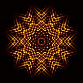 picture of cosmic  - The Abstract cosmic circle of fire star - JPG