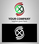 picture of letter x  - Letter X logo Icons element Set vector - JPG