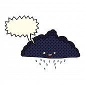 picture of rain cloud  - cartoon rain cloud with speech bubble - JPG