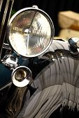 picture of headlight  - Color detail on the headlight of a vintage car - JPG