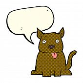 pic of sticking out tongue  - cartoon dog sticking out tongue with speech bubble - JPG