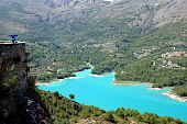 picture of costa blanca  - Waterreservoir near Guadalest on the costa blanca  - JPG