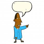 picture of ugly  - cartoon ugly man pointing with speech bubble - JPG