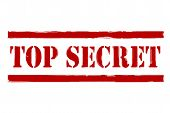 foto of top-secret  - a stamp saying top secret clipping path included - JPG