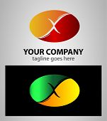 pic of letter x  - Abstract icons based on the letter X logo - JPG