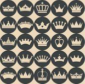 foto of crown jewels  - Seamless pattern of crowns - JPG