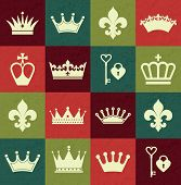 picture of crown jewels  - Seamless abctract crowns pattern - JPG