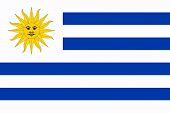 pic of south american flag  - Flag of the South American country of Uruguay - JPG