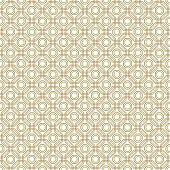 stock photo of octagon  - Geometric fine abstract vector pattern with golden octagons - JPG