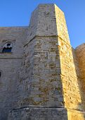 foto of octagon  - An octagonal tower of Castel del Monte Apulia Italy - JPG