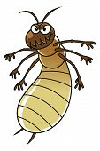 foto of termite  - Vector illustration of cartoon termite on the white background - JPG