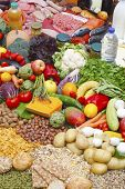 pic of vegetable food fruit  - Assortment of food grouped by typology meat fish vegetables fruit dairies - JPG