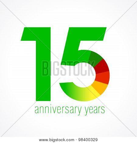 15 anniversary green logo