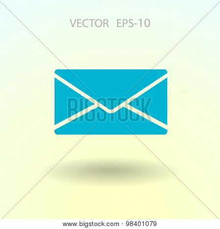 Flat icon of letter