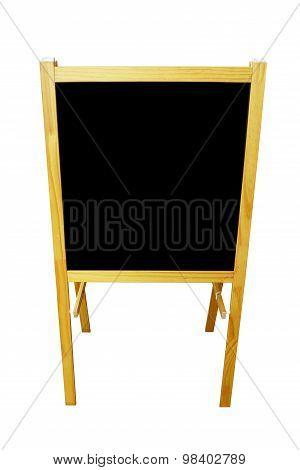 Blank Black Board Menu Front  Isolated