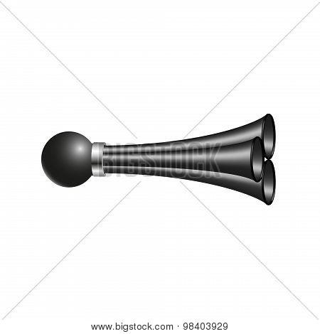 Triple air horn in black design