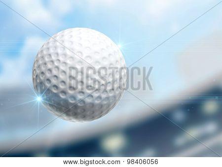 Ball Flying Through The Air