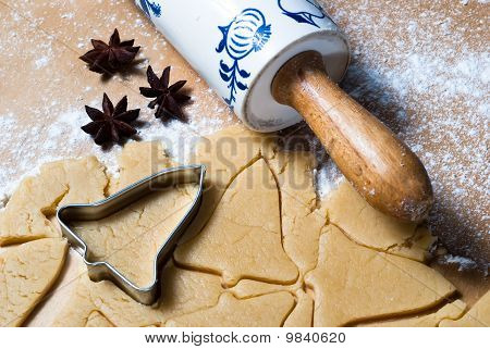 Bell Shape With Rolling Pin And Star Anise