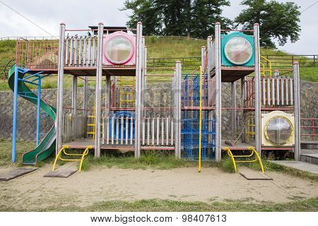 Outdoor plaything in a playground without children