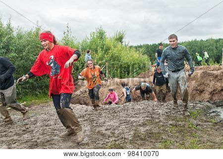 Dirty cross-country race. Tyumen. Russia
