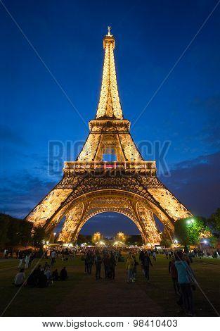 Eiffel Tower In Twilight