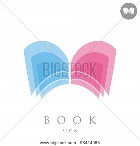 Simple Book Logo Concept Sign