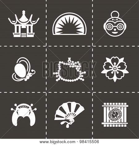 Vector Japan icon set