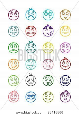 24 Smiles Icons Set 3
