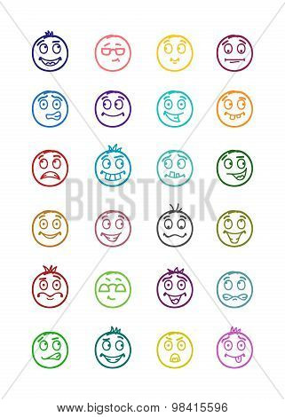 24 Smiles Icons Set 7