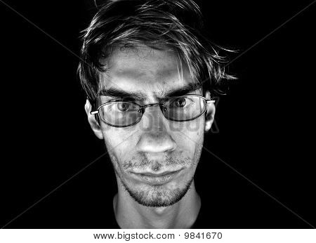 Serious Male With Glasses