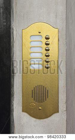 Brass Doorbell Intercom
