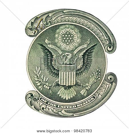 E Pluribus Unum Seal on the US One Dollar Bill
