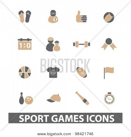 sport, games, fitness icons set, vector