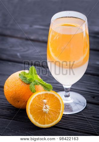 A Glass Infused Water Of  Orange