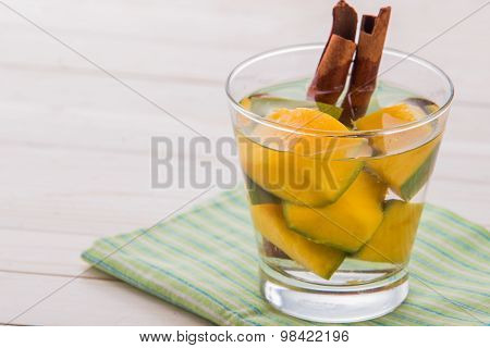 Infused Water Mix Of Mango And Cinnamon