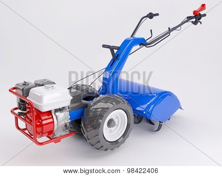 3d render of a rotavator