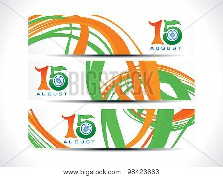 Abstract Multiple Web Banners Independence Day