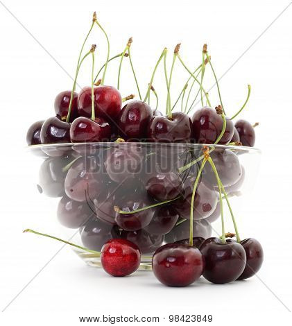 Cherries In Glass Salad-bowl.
