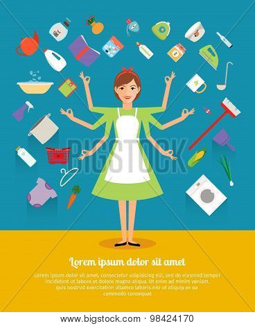 Creative design concepts of housewife activity