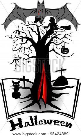 Halloween set bat blood