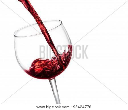 Pouring Red Wine In The Glass